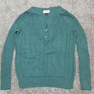 🔥 Sonoma Knit V-Neck Hood Sweater